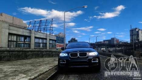 BMW X6 2013 для GTA 4 вид сзади