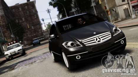 Mercedes Benz A200 Turbo 2009 для GTA 4 вид сзади