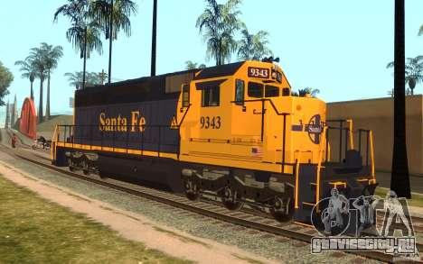 Локомотив SD 40 Santa Fe Blue/Yellow для GTA San Andreas