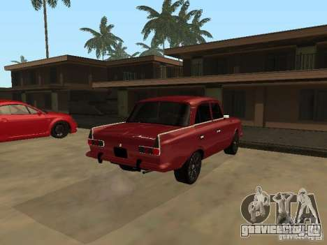 АЗЛК 412 IE для GTA San Andreas вид сзади