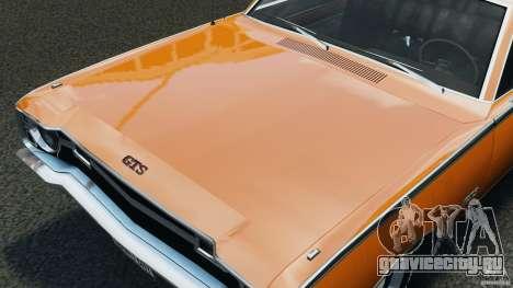 Dodge Dart GTS 1969 для GTA 4 вид изнутри