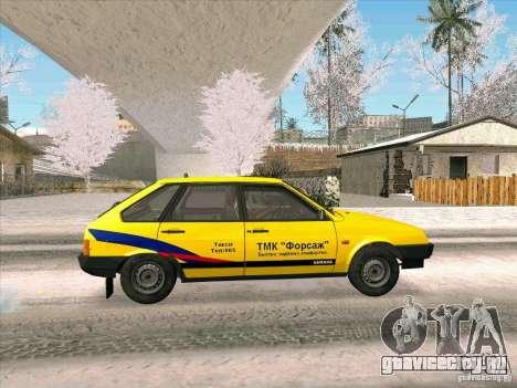 ВАЗ 21093i ТМК Форсаж для GTA San Andreas вид сзади слева