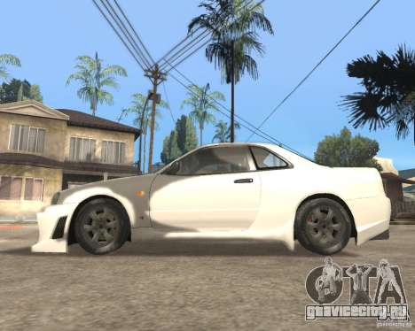 Nissan Skyline R-34 TUNED для GTA San Andreas вид слева