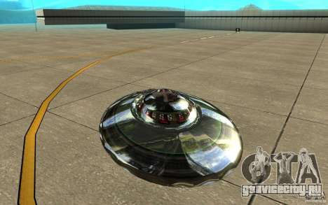 Real UFO для GTA San Andreas вид справа