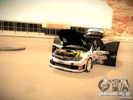 Subaru Impreza Gymkhana для GTA San Andreas вид сзади