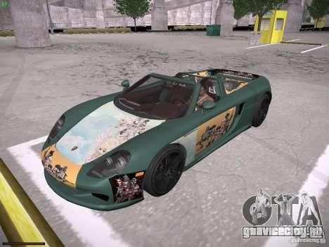 Porsche Carrera GT для GTA San Andreas салон