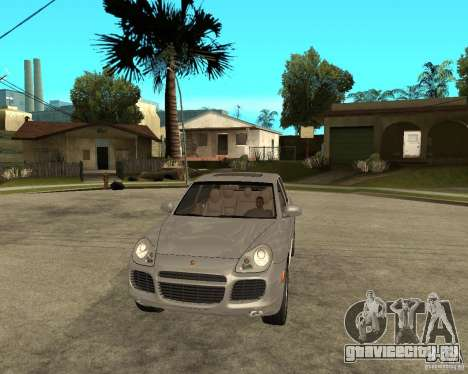 Porsche Cayenne Turbo для GTA San Andreas вид сзади
