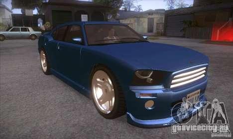 GTA IV Buffalo для GTA San Andreas вид сзади