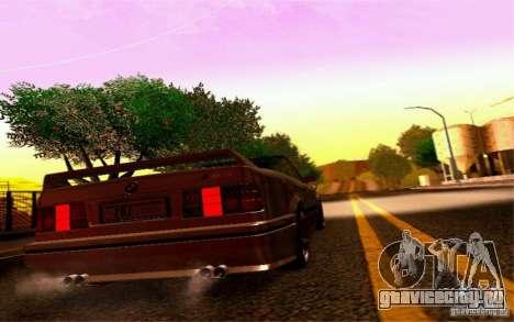 BMW E30 M3 Cabrio для GTA San Andreas вид сзади
