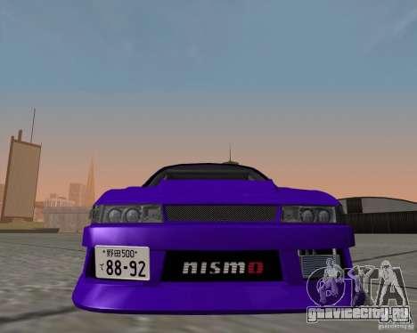 Nissan Silvia S13 Nismo tuned для GTA San Andreas вид сзади слева