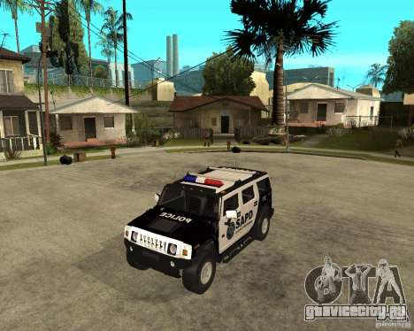 AMG H2 HUMMER SUV SAPD Police для GTA San Andreas вид слева
