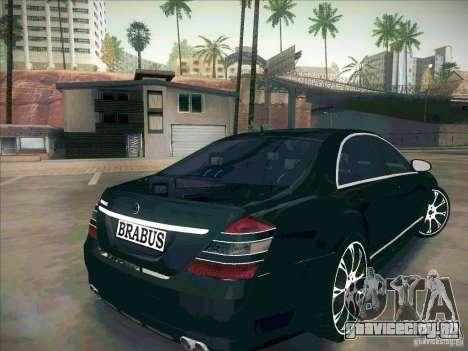 Mercedes-Benz S 500 Brabus Tuning для GTA San Andreas вид сзади слева