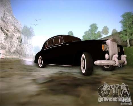 Rolls Royce Silver Cloud III для GTA San Andreas вид изнутри