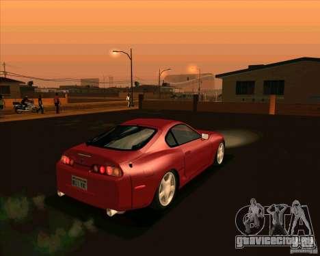 Toyota Supra NFS Most Wanted для GTA San Andreas вид сзади слева