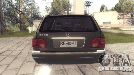 Mercedes-Benz E320 Funeral Hearse для GTA San Andreas вид изнутри