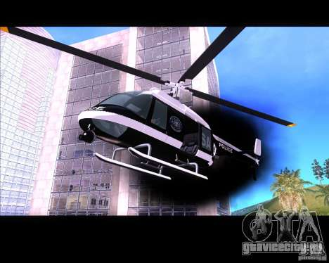 GTA IV Police Helicopter для GTA San Andreas вид слева