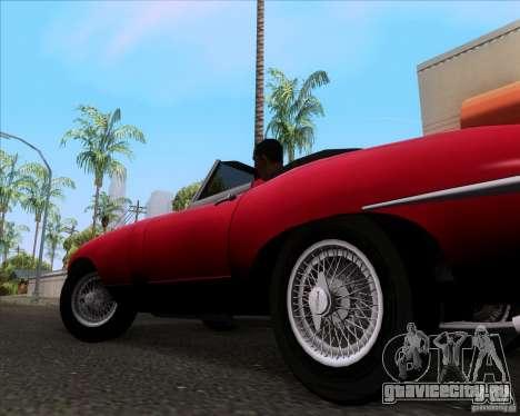 Jaguar E-Type 1966 для GTA San Andreas вид сзади