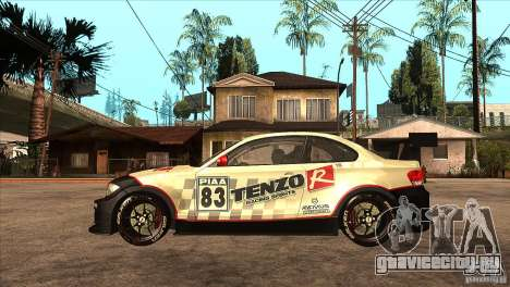 BMW 135i Coupe GP Edition Skin 1 для GTA San Andreas вид слева