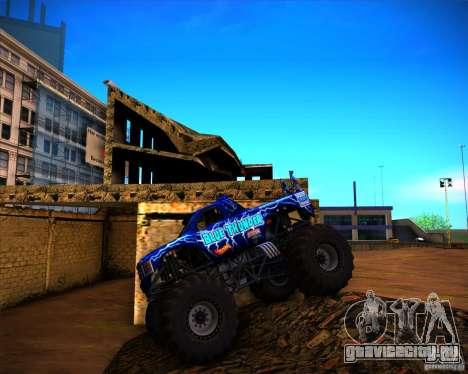 Monster Truck Blue Thunder для GTA San Andreas вид изнутри