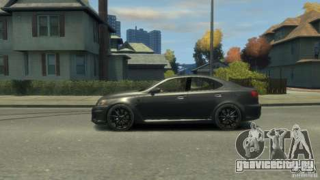 Lexus IS F для GTA 4 вид сбоку