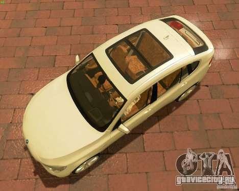 BMW 550i GranTurismo 2009 V1.0 для GTA San Andreas вид изнутри