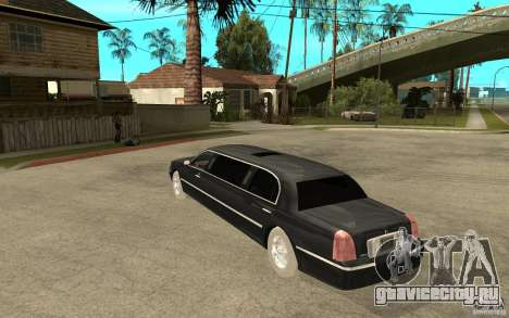 Lincoln Towncar limo 2003 для GTA San Andreas вид сзади слева