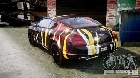 Bentley Continental SS 2010 Gumball 3000 [EPM] для GTA 4 вид сзади слева