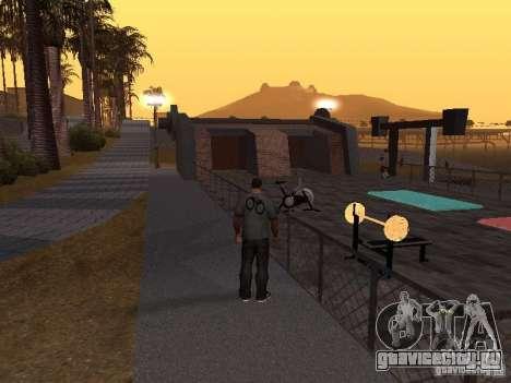 HD Пляж Санта Мария для GTA San Andreas четвёртый скриншот