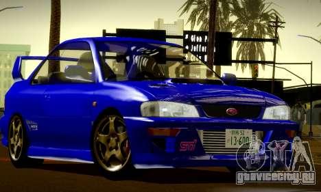 Subaru Impreza WRX GC8 InitialD для GTA San Andreas вид изнутри