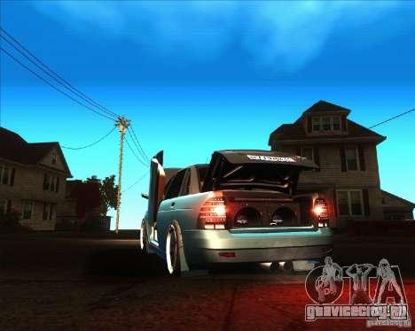 ВАЗ 2170 Lambo для GTA San Andreas вид сзади слева