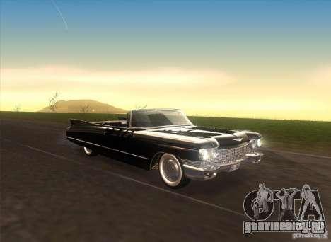 Cadillac Series 62 1960 для GTA San Andreas вид изнутри
