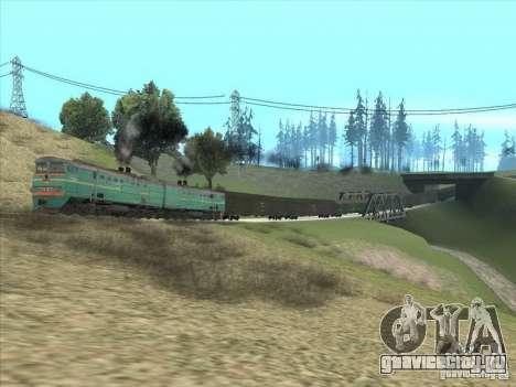 2ТЭ10В-3390 для GTA San Andreas вид сзади