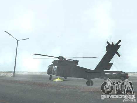 Вертолёт из CoD 4 MW для GTA San Andreas вид слева