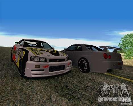 Nissan Skyline R34 Z-Tune V3 для GTA San Andreas вид изнутри