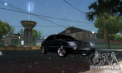 Mercedes-Benz 600SEC для GTA San Andreas вид изнутри
