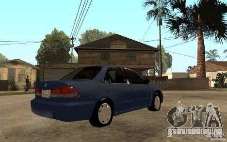 Honda Accord 2001 beta1 для GTA San Andreas вид справа