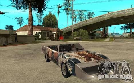 Plymouth Roadrunner Superbird Custom для GTA San Andreas вид сзади