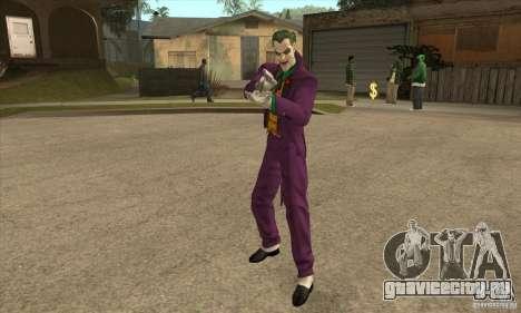 HQ Joker Skin для GTA San Andreas второй скриншот