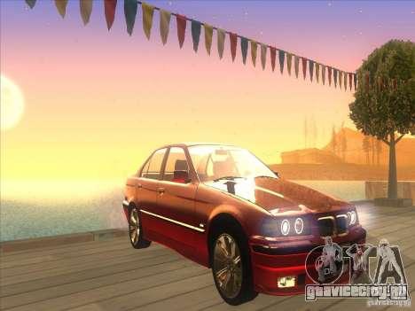 BMW E36 для GTA San Andreas вид изнутри