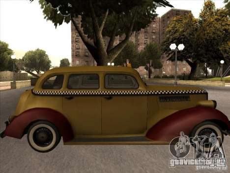 Shubert TAXI из MAFIA 2 для GTA San Andreas вид сзади слева