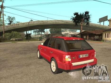 Range Rover Sport 2007 для GTA San Andreas вид сзади слева