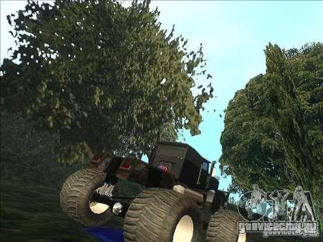 Monsterous Truck для GTA San Andreas вид справа