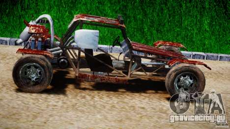 Buggy Avenger v1.2 для GTA 4 вид изнутри