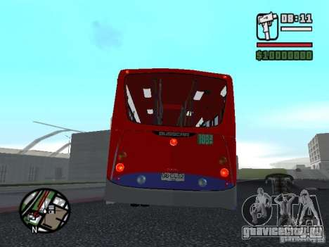 Busscar Urbanuss Pluss VW 17-230 EOD Alongado для GTA San Andreas вид справа