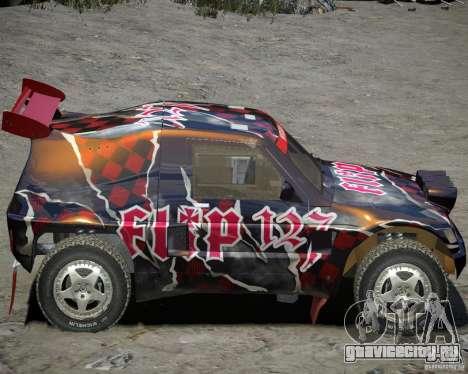 Mitsubishi Pajero Proto Dakar Винил 3 для GTA 4 вид сзади слева
