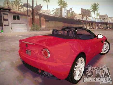 Alfa Romeo 8C Spider для GTA San Andreas вид сзади слева