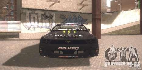 Ford Mustang Monster Energy для GTA San Andreas вид слева