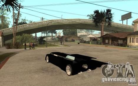 Batmobile Tas v 1.5 для GTA San Andreas вид сзади слева