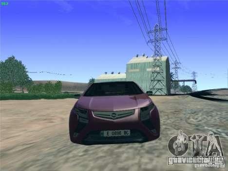 Opel Ampera 2012 для GTA San Andreas вид справа