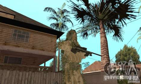 Скин снайпера для GTA San Andreas пятый скриншот
